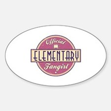 Offical Elementary Fangirl Oval Decal
