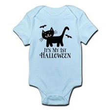 Baby's 1st Halloween kitty Body Suit