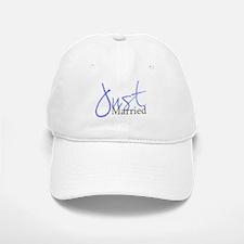 Just Married (Blue Script) Baseball Baseball Cap