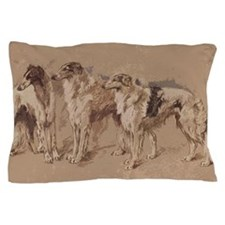 3 Borzois Pillow Case