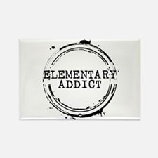 Elementary Addict Stamp Rectangle Magnet