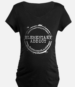 Elementary Addict Stamp Dark Maternity T-Shirt