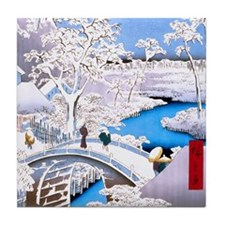 Hiroshige Drum Bridge Tile Coaster