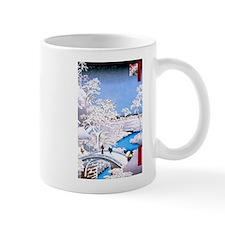 Hiroshige Drum Bridge Mugs