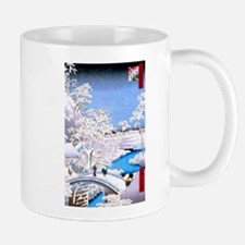 Hiroshige Drum Bridge Mugs