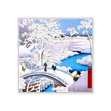 Hiroshige Drum Bridge Sticker