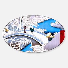 Hiroshige Drum Bridge Decal