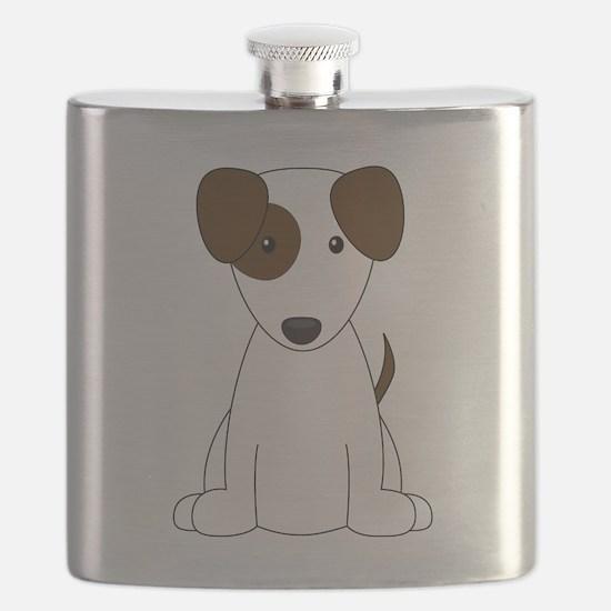 Brown Jack Russell Terrier Flask