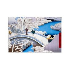 Hiroshige Drum Bridge Magnets