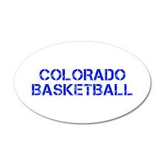 COLORADO basketball-cap blue Wall Decal