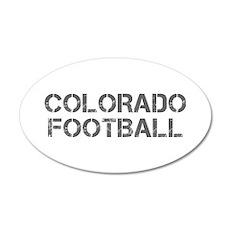 COLORADO football-cap gray Wall Decal