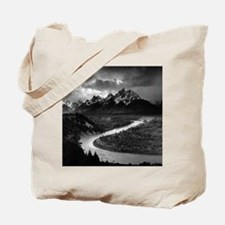 Ansel Adams The Tetons and the Snake Rive Tote Bag