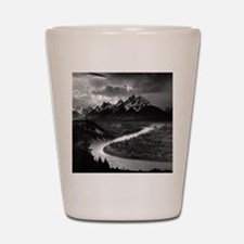 Ansel Adams The Tetons and the Snake Ri Shot Glass