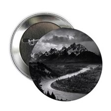 """Ansel Adams The Tetons and the Snake 2.25"""" Button"""