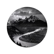 "Ansel Adams The Tetons and the Snake R 3.5"" Button"