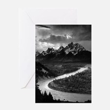 Ansel Adams The Tetons and the Snak Greeting Cards