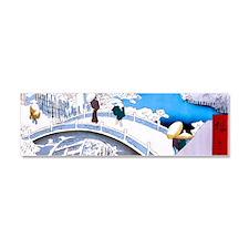 Hiroshige Drum Bridge Car Magnet 10 x 3