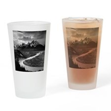 Ansel Adams The Tetons and the Snak Drinking Glass