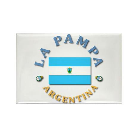 La Pampa Rectangle Magnet