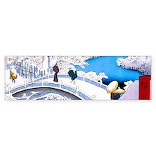Hiroshige Drum Bridge Bumper Bumper Sticker