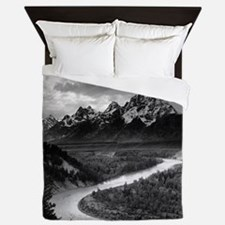 Ansel Adams The Tetons and the Snake R Queen Duvet