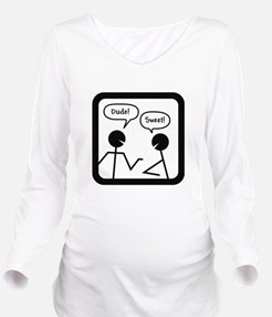 DUDES Long Sleeve Maternity T-Shirt