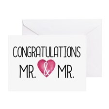 Wedding Congrats Mr & Mrs Greeting Cards