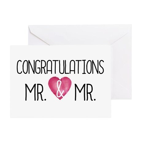 Mr amp mrs congratulations on your wedding day greeting card - Wedding Congrats Mr Amp Mrs Greeting Cards By Micheller
