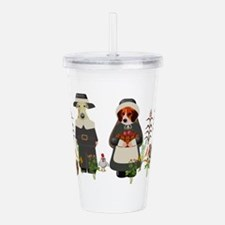 Thanksgiving Dogs Acrylic Double-wall Tumbler