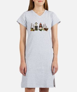 Thanksgiving Dogs Women's Nightshirt
