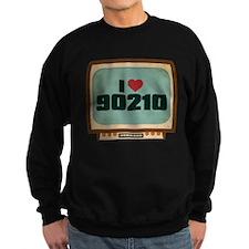 Retro I Heart 90210 Dark Sweatshirt