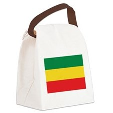 Green, Gold and Red Flag Canvas Lunch Bag