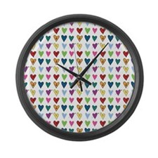 Heart Explosion Large Wall Clock