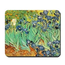 Van Gogh Irises Mousepad
