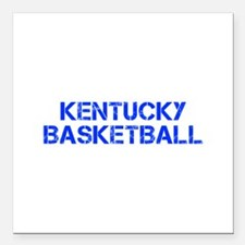 "KENTUCKY basketball-cap blue Square Car Magnet 3"""