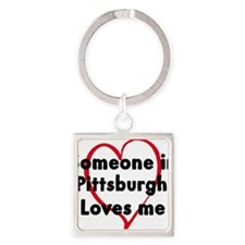 Cute Pittsburgh Square Keychain