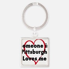 Cute Someone california loves me Square Keychain