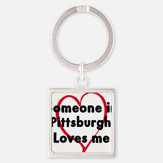 Unique Someone los angeles loves me Square Keychain