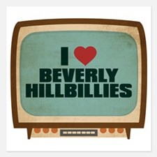 Retro I Heart Beverly Hillbillies 5.25 x 5.25 Flat