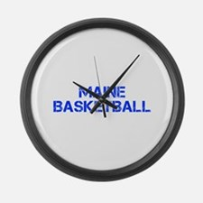 MAINE basketball-cap blue Large Wall Clock