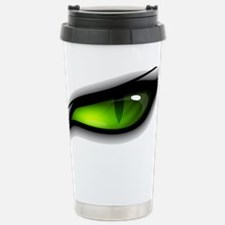 GREEN ANGER EYE TIGER  Stainless Steel Travel Mug
