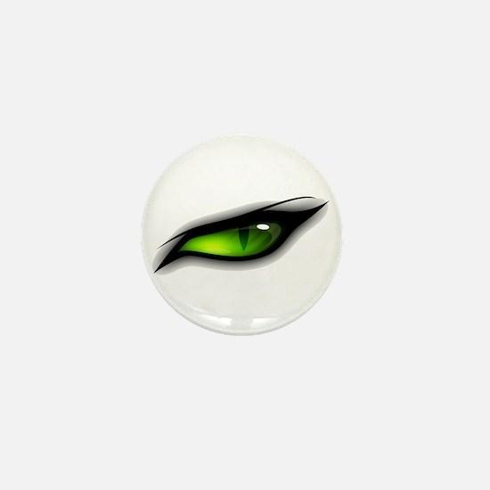 GREEN ANGER EYE TIGER  Mini Button