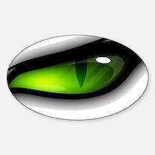 GREEN ANGER EYE TIGER  Sticker (Oval)