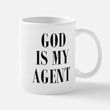 GOD IS MY AGENT Mugs
