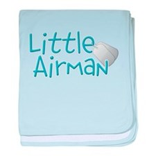 Little Airman baby blanket