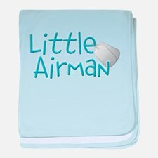 Little Airman baby blanket