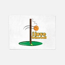I Love Tetherball 5'x7'Area Rug