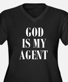 GOD IS MY AGENT Plus Size T-Shirt