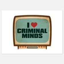 Retro I Heart Criminal Minds Invitations