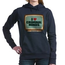 Retro I Heart Criminal Minds Woman's Hooded Sweats